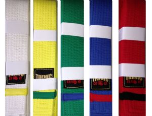 Coloured Stripe Belts (10 Pack)